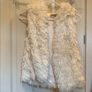 Cream PIKO 1988 furry vest never worn